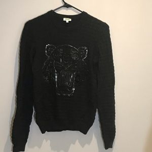 Kenzo Paris Women Tiger Black Sweater Size Small